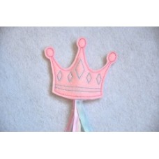 Princess Crown Wand Topper In the Hoop