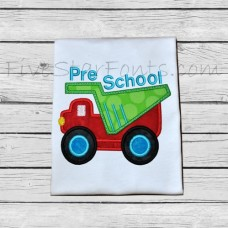 Back to School Truck Applique