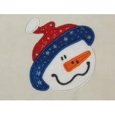 Snowman Face Applique - FREE