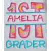 Split 1st First Grade Applique Back to School
