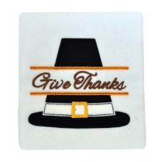Split Thanksgiving Pilgrim Hat Applique