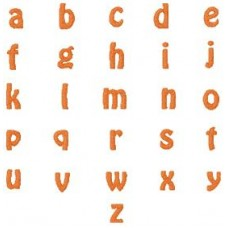 Stacked Name Lower Case Font 4