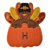 Turkey Pumpkin Monogram