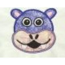 HIPPO Face Applique Design