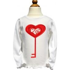 Heart Key Valentine Applique