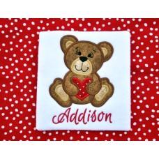 Valentine Heart Bear Applique
